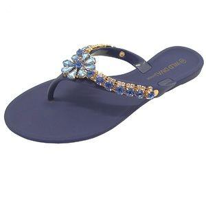 Blue and Gold Bling Sandal
